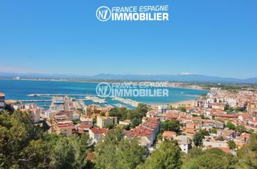 vente appartement rosas, ref.3148, magnifique vue de la mer depuis la terrasse véranda