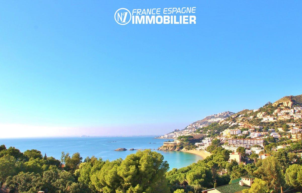 maison a vendre espagne, villa 83 m² vue mer, proche plage Roses