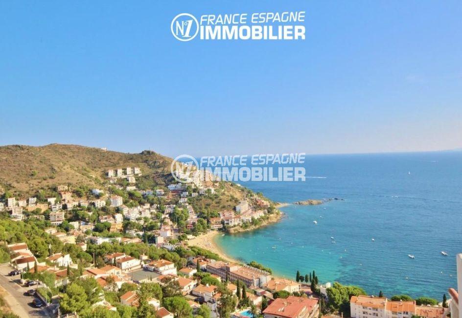 agence immobilière costa brava: villa 65 m², magnifique paysage de la mer depuis la véranda