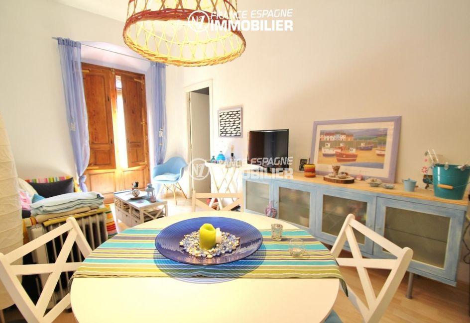 immobilier empuria brava: appartement ref.3283, coin repas dans salon / salle à manger
