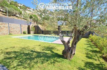 immo roses espagne: villa ref.2391, jardin arboré et bien entretenu avec piscine
