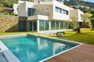 immobilier rosas: villa ref.2390, maison moderne, vue mer, plage à 400 m
