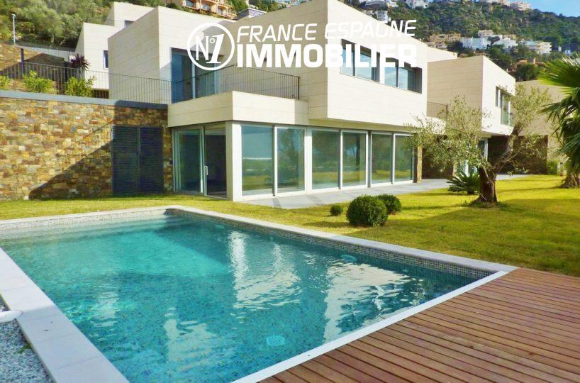 immobilier rosas: villa ref.2392, maison moderne, vue mer, plage à 400 m