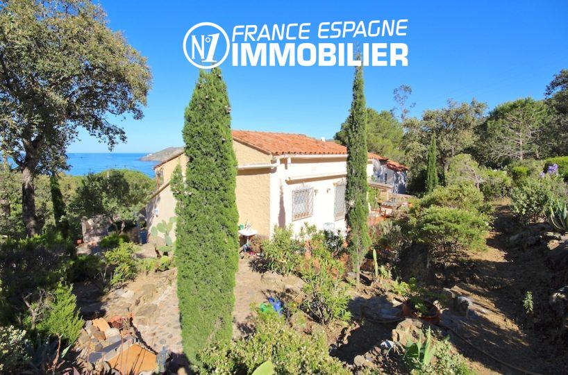 agence immobiliere costa brava: belle villa ref.2901, vue mer magnifique, proche plage