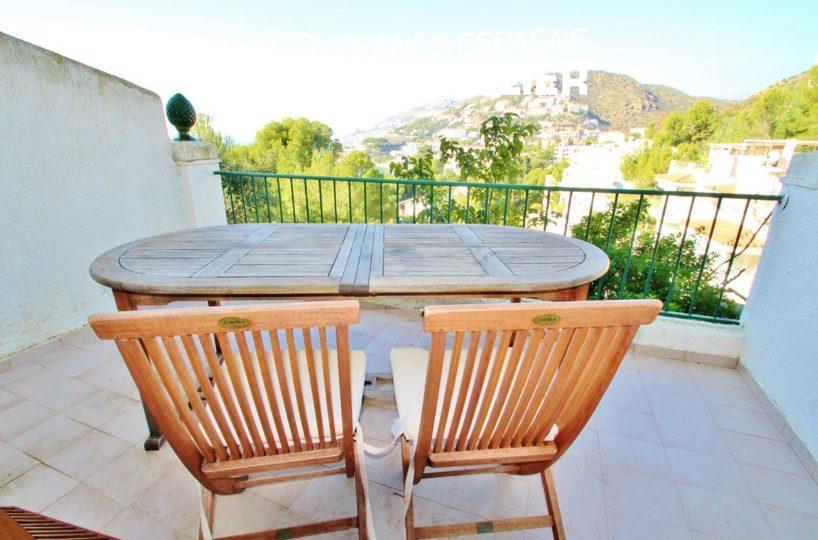 maison a vendre espagne costa brava, villa 83 m² vue mer, plage Roses à pied