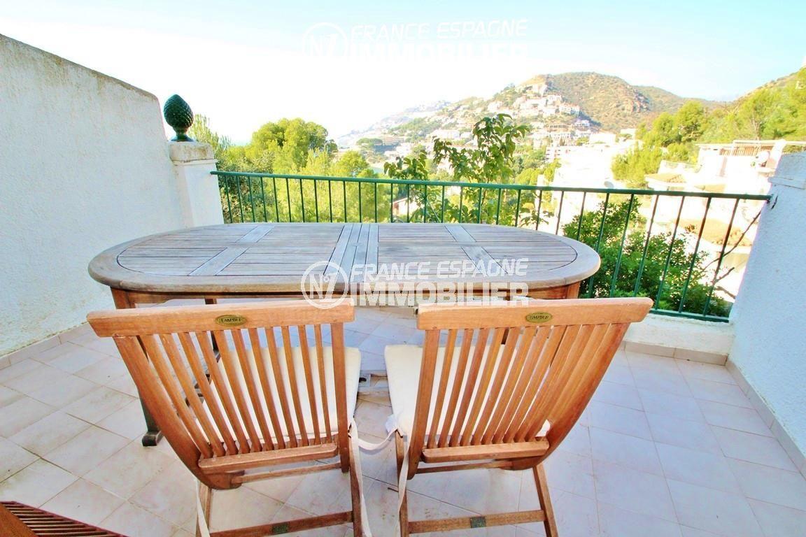 immo espagne costa brava: villa ref.2735, terrasse avec vue sur la mer accès au salon