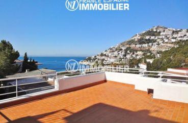 immo roses: villa à canyelles magnifique vue mer avec garage