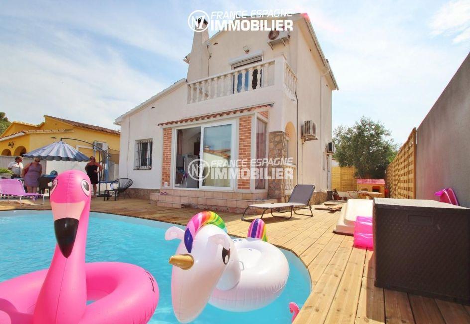 maison a vendre espagne costa brava, 4 pièces 150 m², proche plage avec jardin, piscine