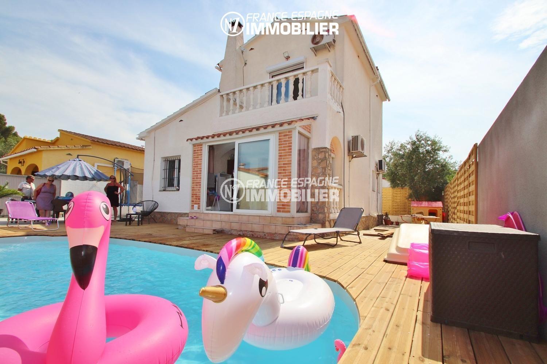 maison a vendre costa brava, 150 m² proche plage, jardin & piscine