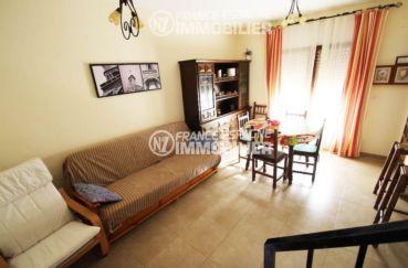 immobilier roses espagne: villa ref.3006, salon / salle à manger avec accès à la terrasse