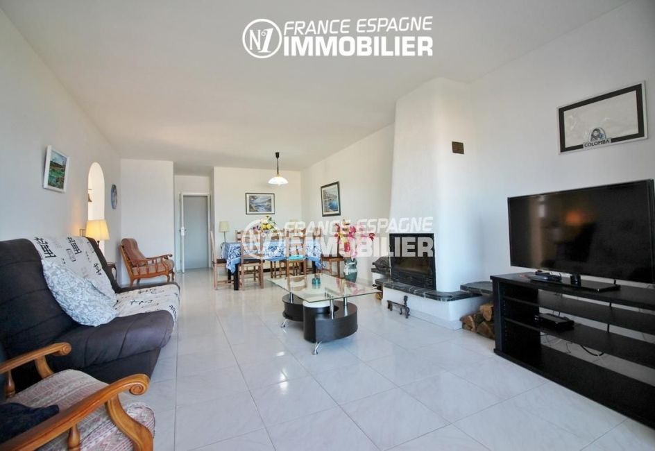 immo roses espagne: appartement ref.3148, vue sur l'ensemble du salon / salle à manger
