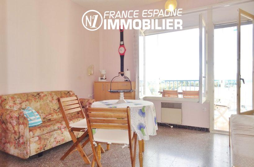 appartement a vendre costa brava, 27 m², dans résidence avec piscine, tout petit prix