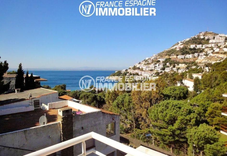 agence immobiliere costa brava: villa 133 m², vue sur la mer et la côte depuis la terrasse