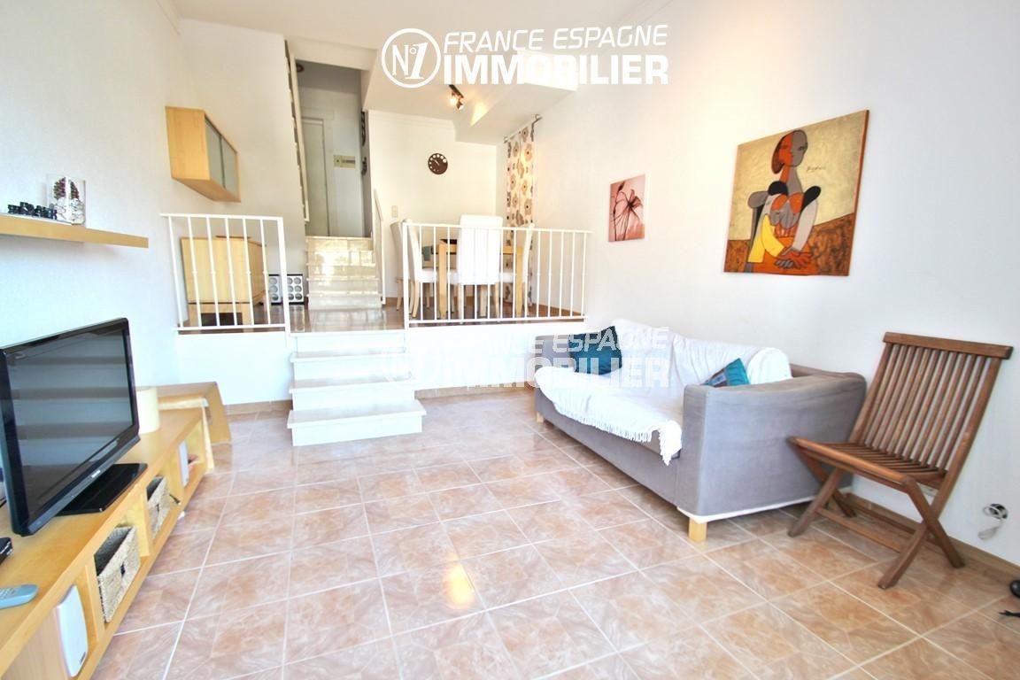 maison a vendre rosas, villa 83 m² vue mer, proche plage à pied