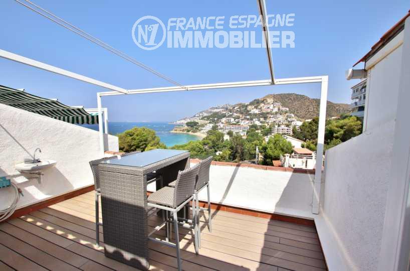 immo costa brava: villa ref.2667, une des 3 terrasses, salle à manger d'été
