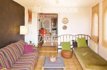 maison a vendre espagne costa brava, ref.354, salon avec prolongation sur le séjour