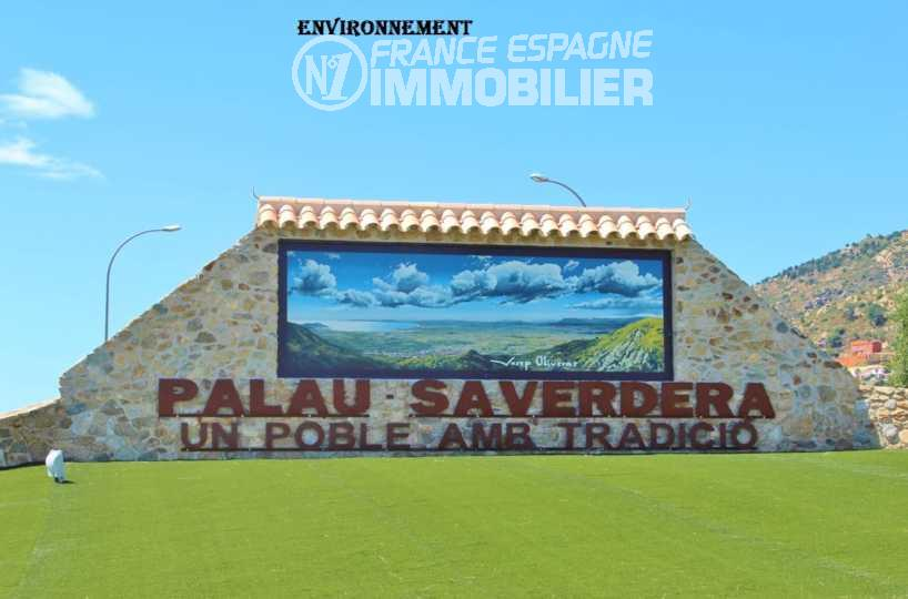 vente immobilier costa brava: terrain de 606 m² constructible, entrée de la ville à palau