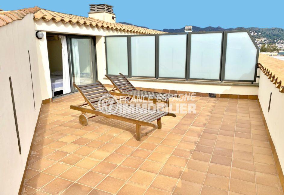 vente appartement rosas, 3 pièces 85 m², terrasse de 26 m² avec vue mer