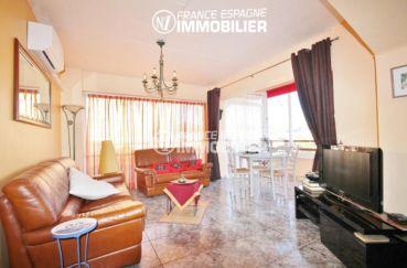 appartement a vendre rosas, ref.3052, vue générale séjpur & salle à manger