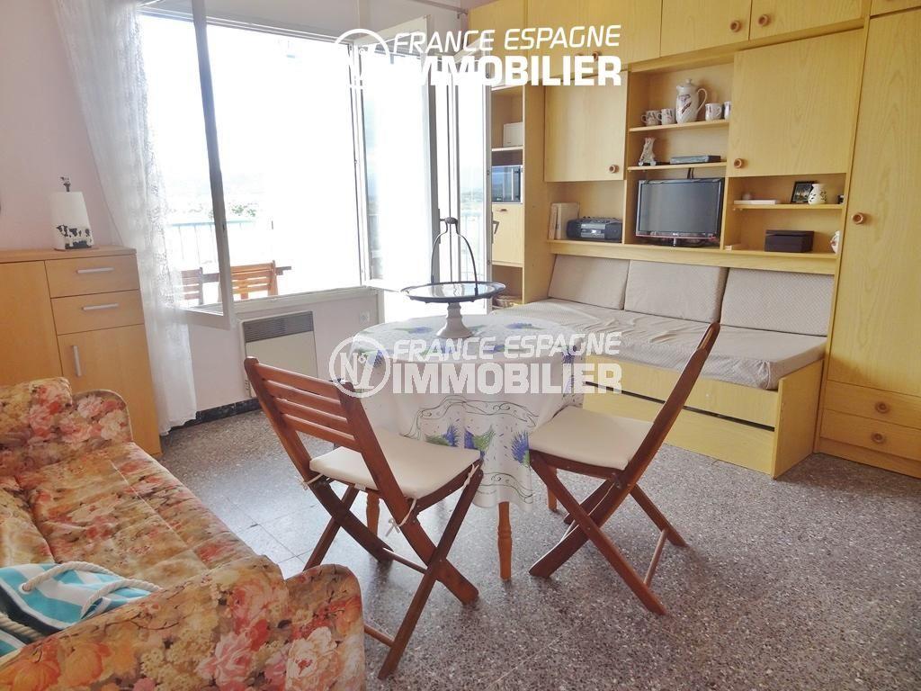 immo rosas: studio à Santa Margarita, 27 m², résidence avec piscine, tout petit prix