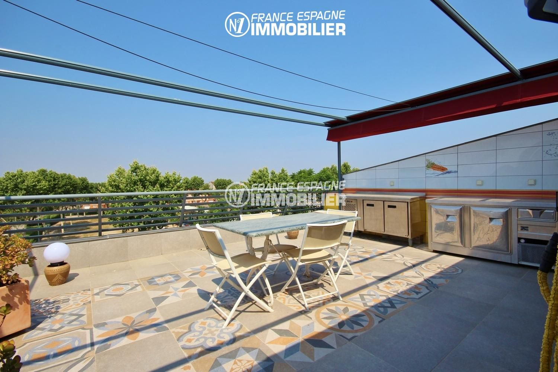 immobilier espagne costa brava: appartement 139 m² + terrasse 66 m² à San pere pescador