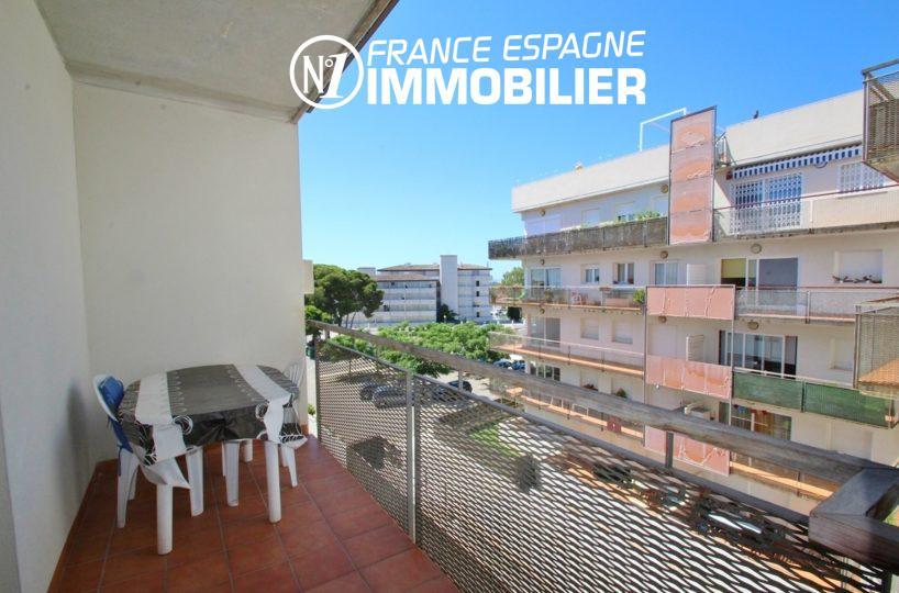agence immobiliere rosas santa margarita: vend appartement 58 m² avec piscine