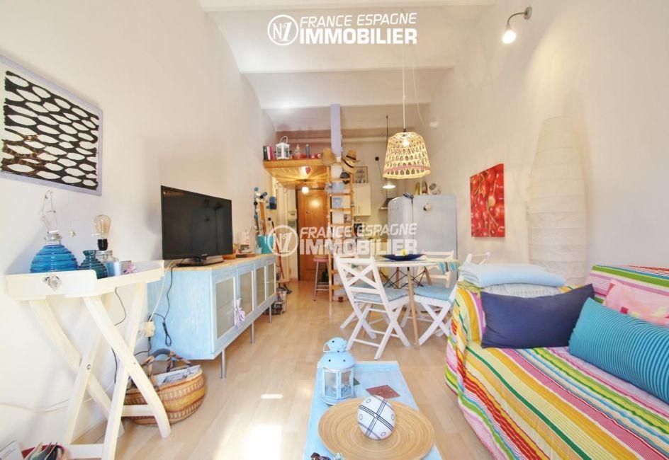 immobilier empuriabrava: appartement ref.3283, salon / séjour avec cuisine ouverte
