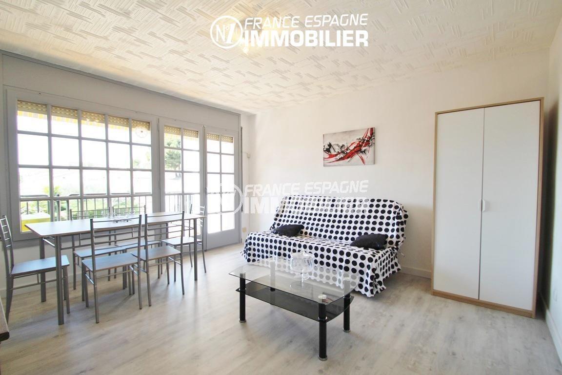 agence immobiliere roses espagne: ref.2862, salon / salle à manger accès terrasse
