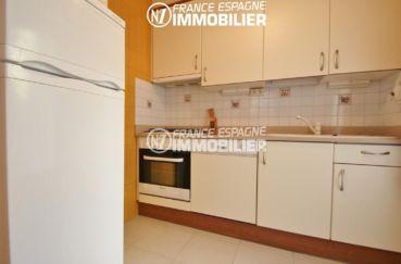 appartement à vendre à rosas espagne, ref.780, cuisine indépendante accès terrasse