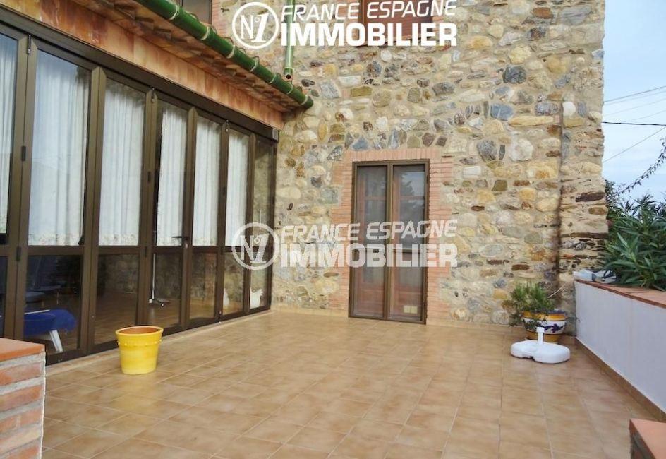 immobilier espagne costa brava: villa ref.1950, terrasse du rez-de-chaussée