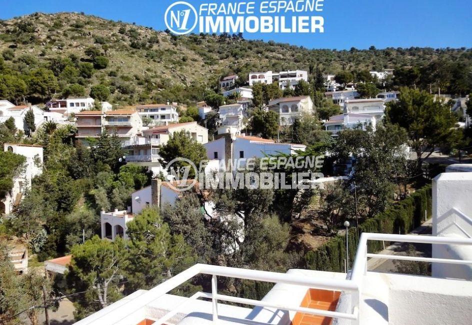 roses espagne: villa de 133 m², vue sur les montagnes depuis la terrasse