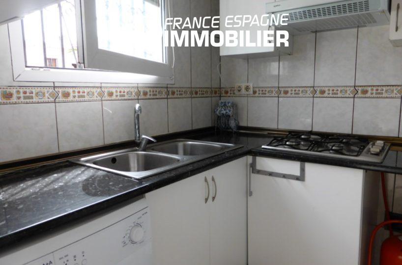 agence empuriabrava: appartement ref.1890, cuisine indépendante toute équipée