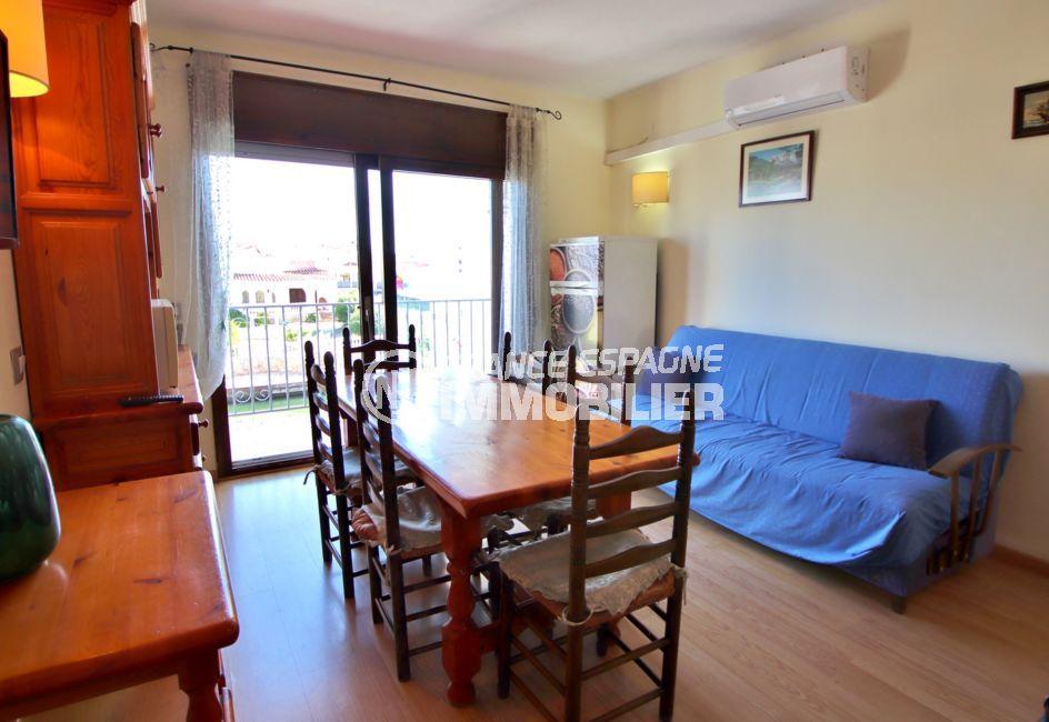 immobilier empuria brava: appartement 3 pièces 57 m², séjour, climatisation et terrasse
