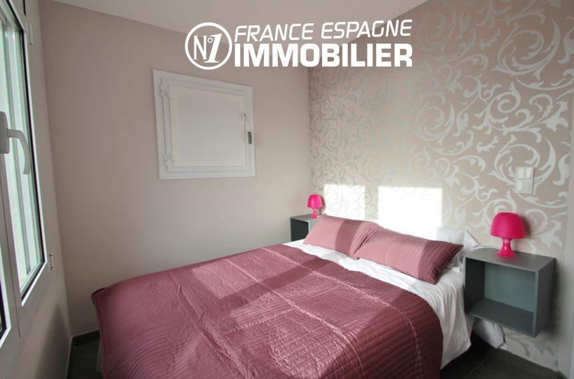 immobilier rosas espagne: appartement ref.2879, chambre 1 avec lit double et vue mer