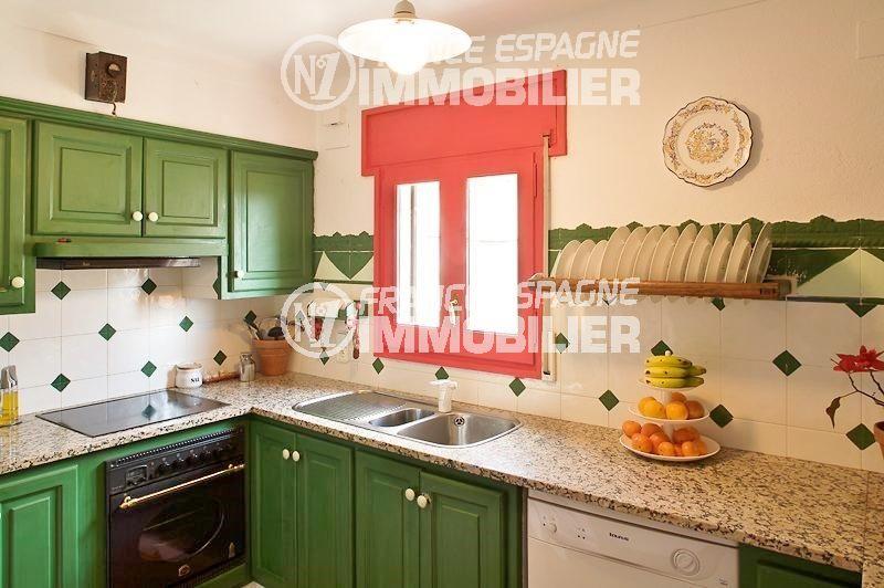 agence immobiliere costa brava espagne: villa ref.354, cuisine indépendante fonctionnelle