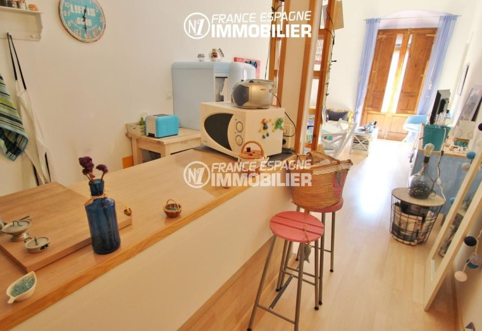 immo espagne costa brava: appartement ref.3283, joli plan de travail dans le coin cuisine