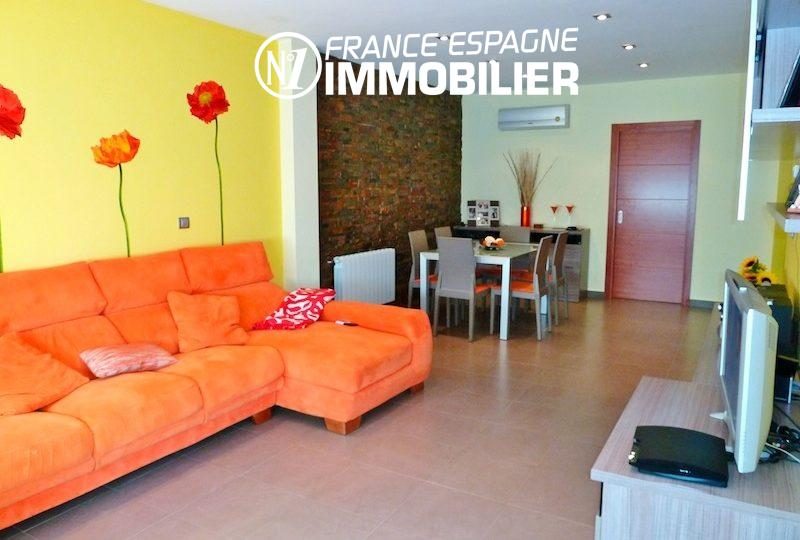 vente immobilier costa brava: villa ref.1013, salon / salle à manger accès à la terrasse