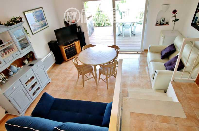 maison a vendre rosas, ref.2667, séjour avec accès terrasse