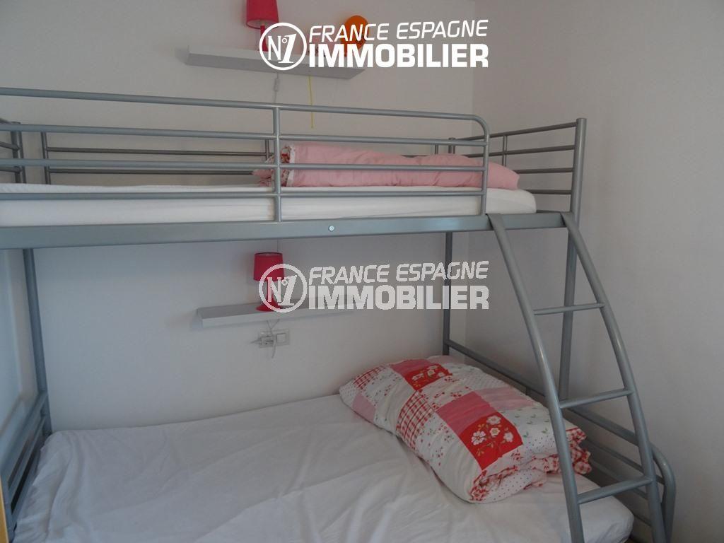 achat appartement rosas, ref.2507, un lit double superposé avec un lit simple