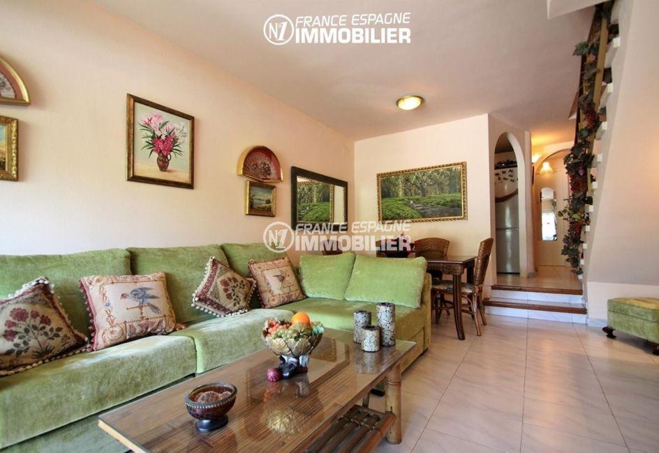 agence immobilière empuriabrava: villa ref.3271, aperçu séjour et coin salle à manger