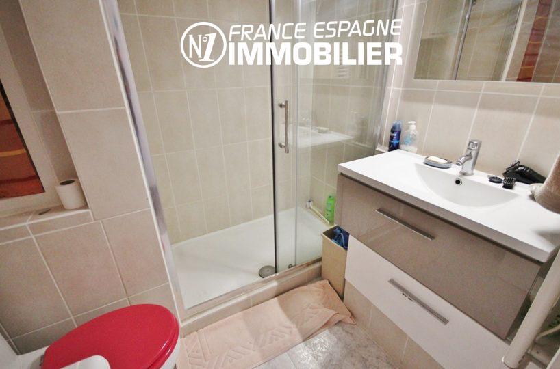 agence immobilière roses: appartement ref.3052, salle d'eau & toilettes
