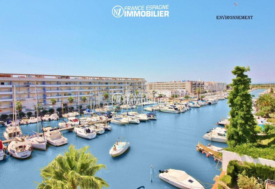 immobilier espagne costa brava: appartement ref.2765, aperçu marina sur le canal aux alentours