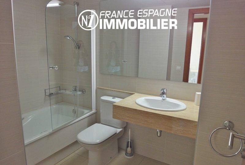 appartements a vendre costa brava, atico 85 m², 2 chambres & salle d'eau