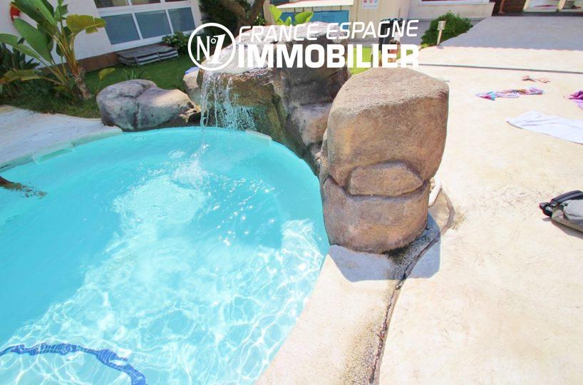 appartement rosas vente, ref.2647, vue piscine depuis la chambre
