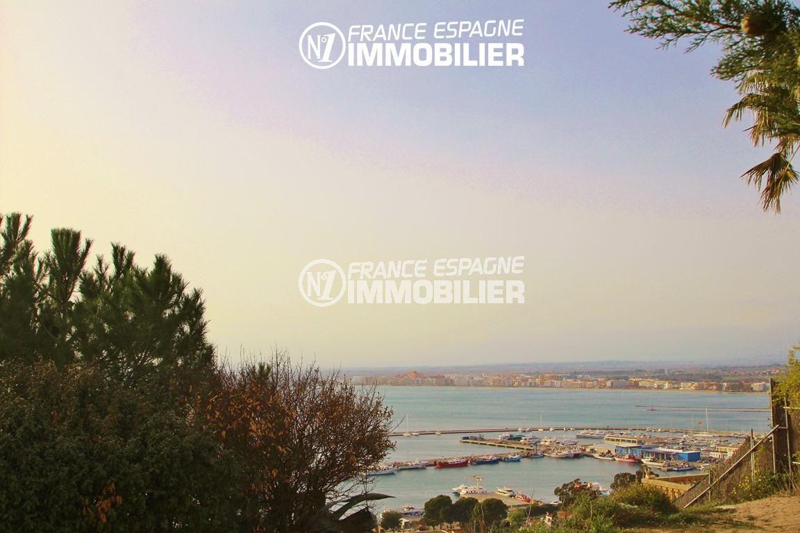 agence immobiliere rosas: appartement ref.2879, vue sur la baie et le port depuis la terrasse