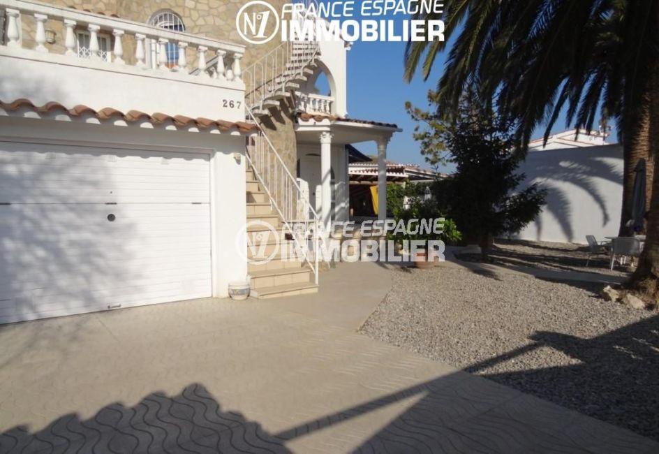 maison à vendre empuriabrava, ref.2110, vue jardin & garage