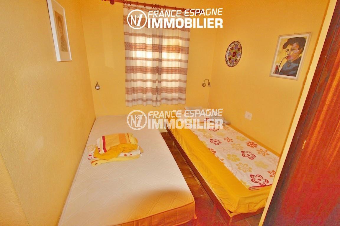vente immobilier rosas espagne: villa ref.2596, deuxième chambre avec 2 lits simples
