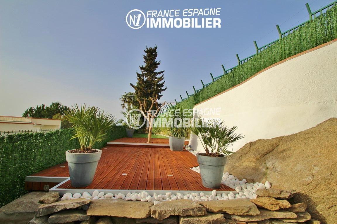 immobilier rosas: appartement ref.2879, jardin privatif 158 m² avec terrasse en palier