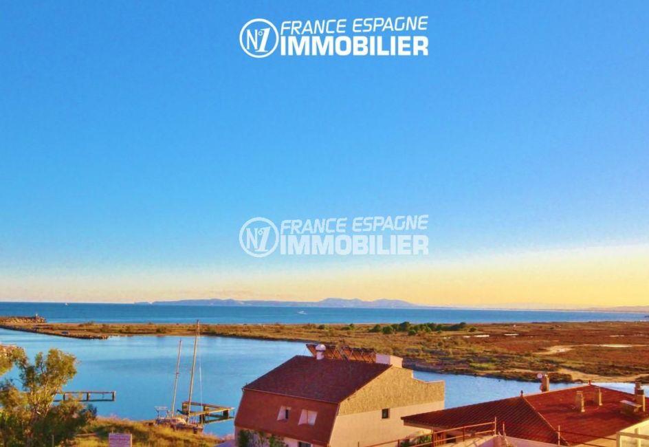 agence immobilière costa brava: appartement ref.3052, vue panoramique sur le canal et la mer
