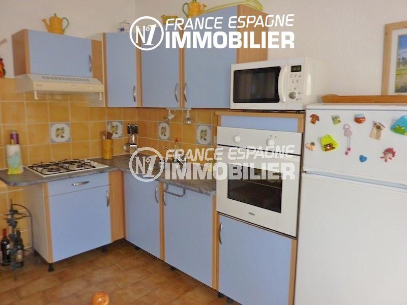 maison a vendre espagne, 108 m², cuisine ouverte équipée avec rangements